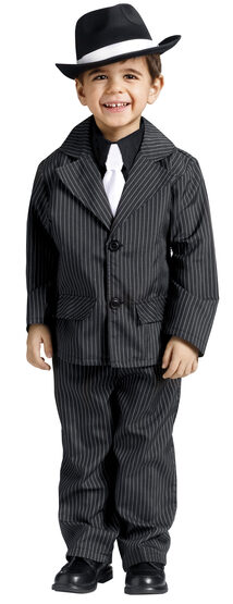 Boys Little Gangster Kids Costume