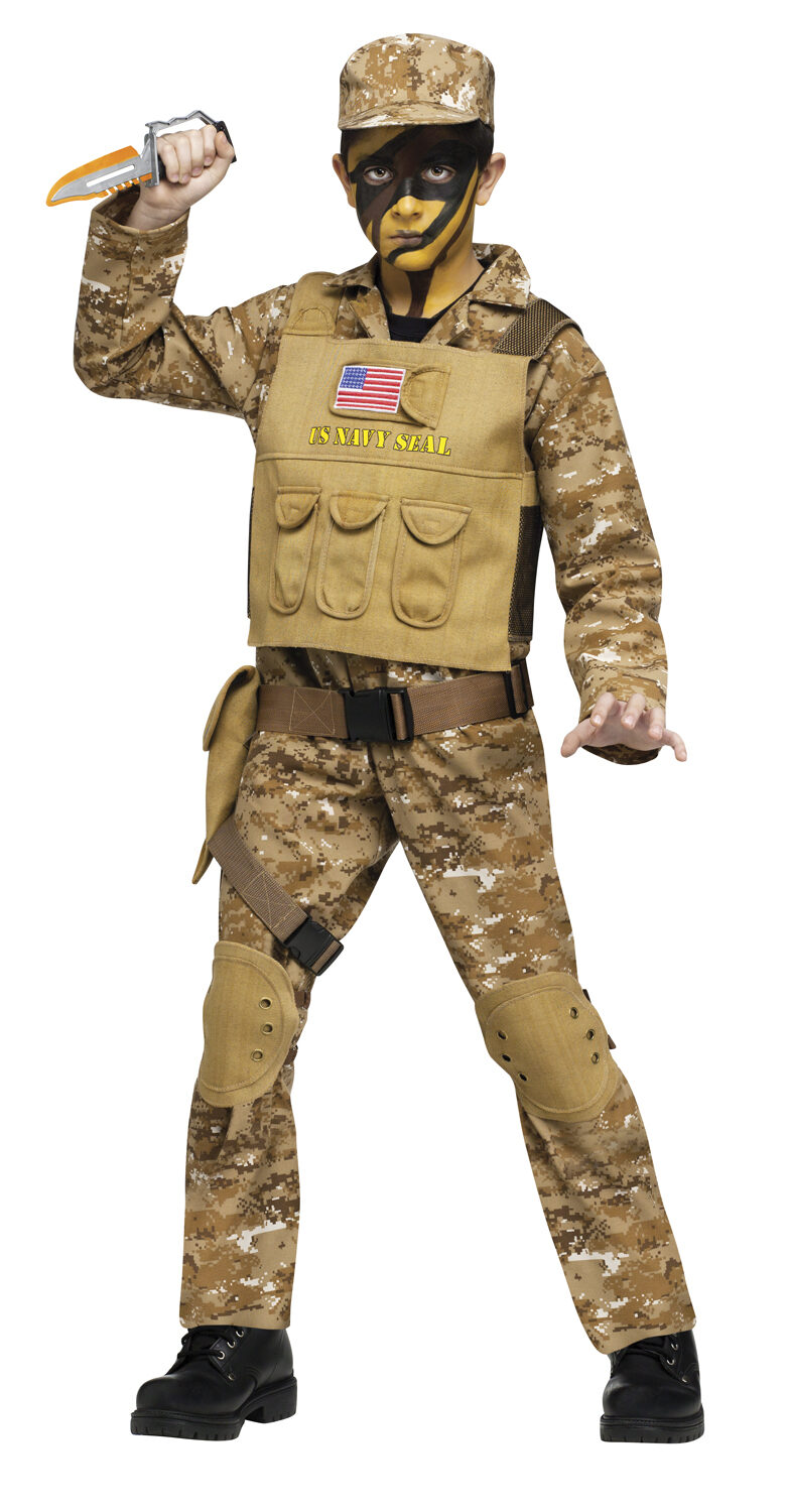 Boys Navy Seal Soldier Kids Costume  sc 1 st  Mr. Costumes & Boys Navy Seal Soldier Kids Costume - Mr. Costumes