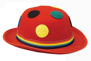 Red Polka Dot Derby Hat