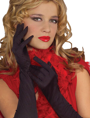 Black Rouched Dress Gloves