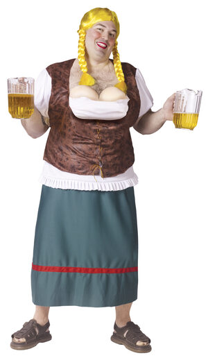 Mens Bavarian Beauty Beer Girl Funny Plus Size Costume