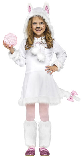 Girls Persian Kitty Cat Kids Costume