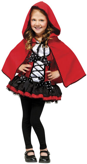 Girls Sweet Red Riding Hood Kids Costume
