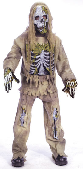 Boys Skeleton Zombie Kids Costume