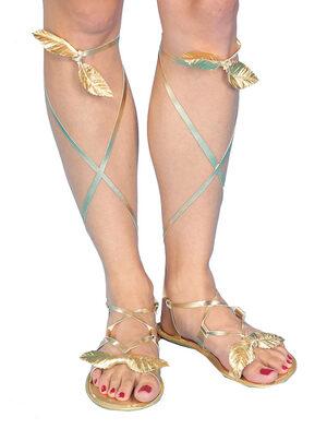 Womens Gold Roman Sandals