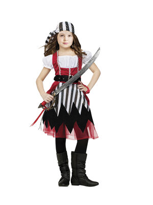 Girls Pirate Queen Kids Costume