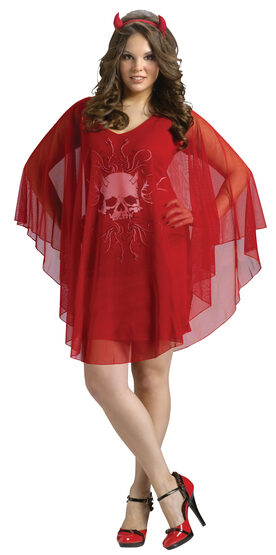 Red Poncho Devil Plus Size Costume