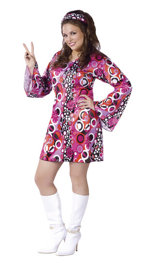 Feelin Groovy 60s Plus Size Costume