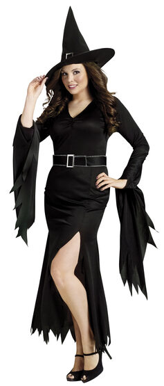 Womens Gothic Witch Plus Size Costume