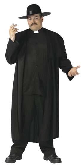 Mens Piazza Priest Plus Size Costume