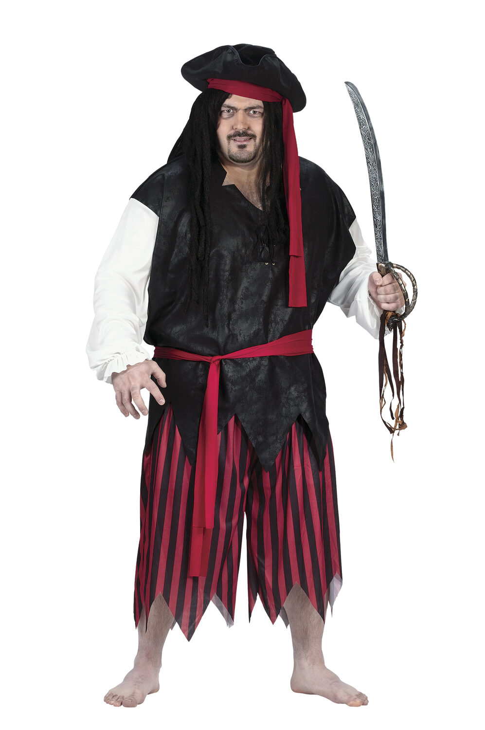 Mens Plundering Caribbean Pirate Plus Size Costume  sc 1 st  Mr. Costumes & Mens Plundering Caribbean Pirate Plus Size Costume - Mr. Costumes