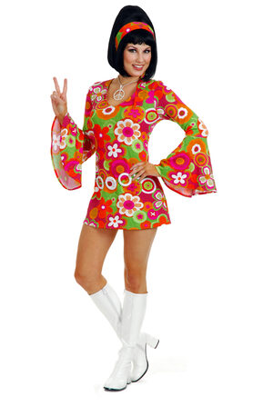 Sexy Womens Groovin Hippie Costume