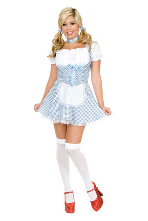 Sexy Yellow Brick Road Dorothy Costume