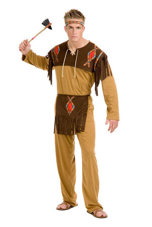 Boys Native American Indian Brave Adult Costume