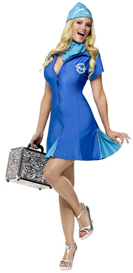 Sexy In Flight Delight Stewardess Costume