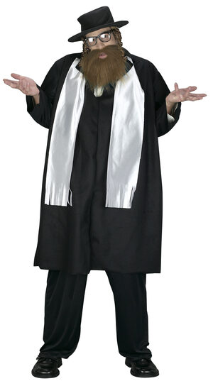 Mens Funny Rabbi Plus Size Costume