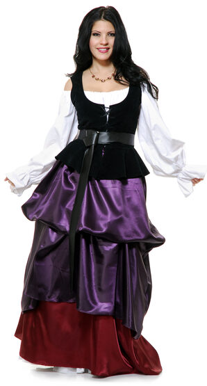 Renaissance Purple Country Wench Adult Costume