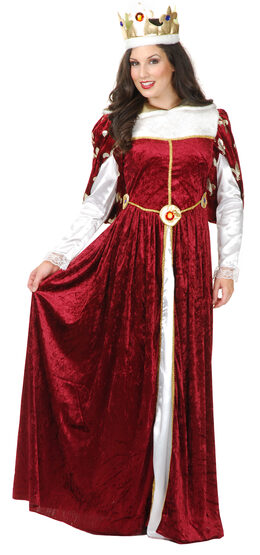 Womens Royal Queen Gown Adult Costume