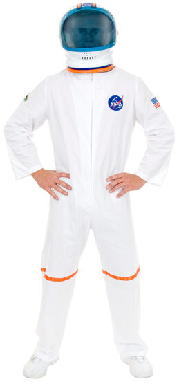 Mens Astronaut Space Suit Adult Costume