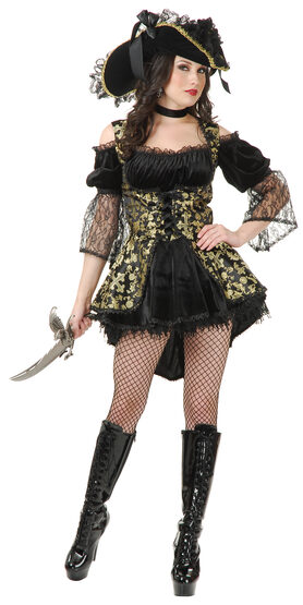 Sexy Black Pearl Pirate Queen Costume