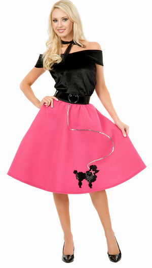 Womens 50s Poodle Skirt Adult Costume