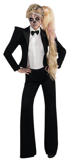 Lady Gaga Tuxedo Rockstar Adult Costume