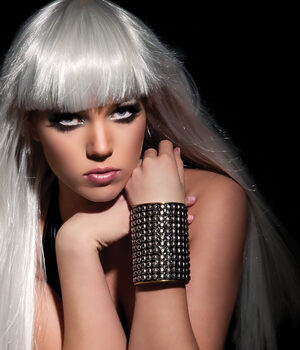 Lady Gaga Metal Arm Cuff