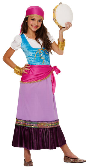 Girls Gypsy Traveler Kids Costume