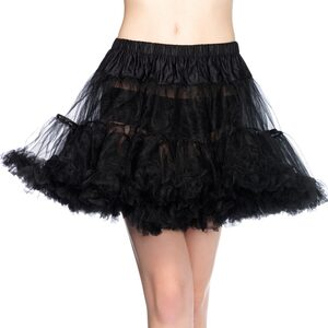 Womens Black Layered Tulle Petticoat