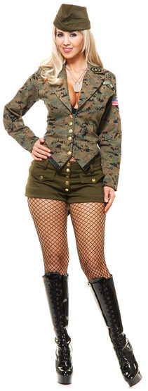 Sexy Lt Leila Army Girl Costume