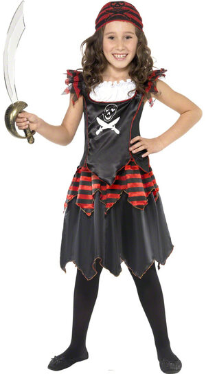 Girls Gothic Pirate Kids Costume