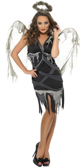 Sexy Black Fallen Angel Costume