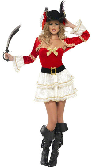 Sexy Plentiful Pirate Wench Costume