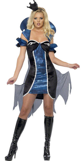 Sexy Blue Evil Queen Villain Costume