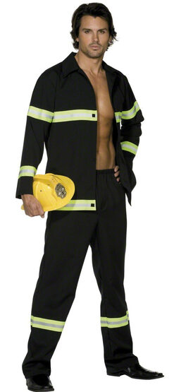 Mens Heroic Firefighter Adult Costume