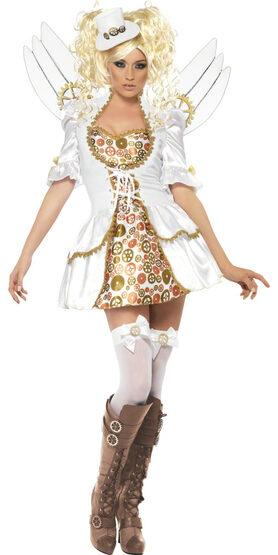 Sexy Steampunk Victorian Clockwork Angel Costume