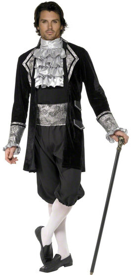 Mens French Baroque Vampire Adult Costume