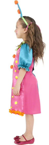 Miss Brightly Buttons Clown Kids Costume