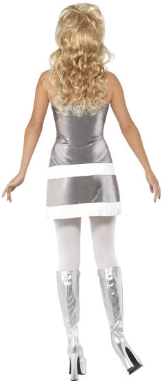 Sexy 1960s Silver Space Retro Robot Costume