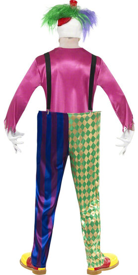 Colorful Killer Clown Adult Costume