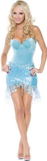 Sexy Little Mermaid Seafoam Dress Costume
