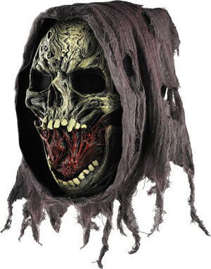 Adult Death Scary Mask with Hood