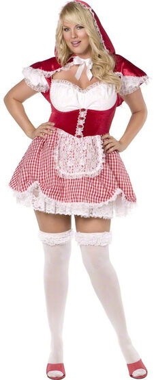 Gingham Red Riding Hood Plus Size Costume