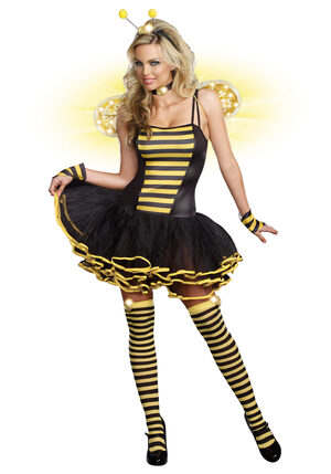 Sexy Light Up Buzzin Bumble Bee Beauty Costume
