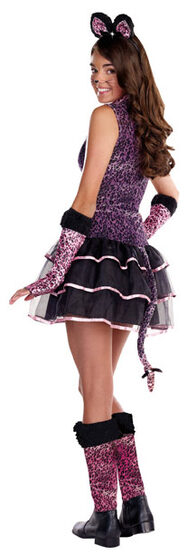 Teen Super Star Purrty Cat Costume