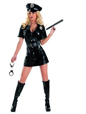 Sexy Belted Lawful Entry Police Costume