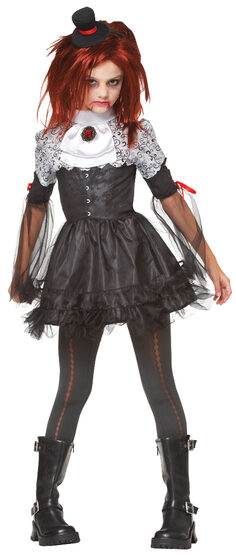 Girls Edgy Vampire Kids Costume