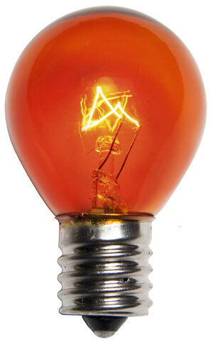S11 Amber Transparent Replacement Bulbs