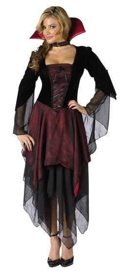 Adult Lady Dracula Womens Vampire Costume