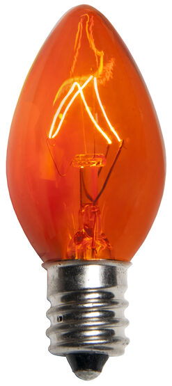 C7 Amber Triple Dipped Transparent Replacement Bulbs